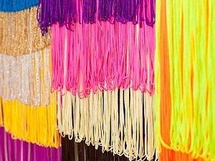 Ткань бахрома разноцветная