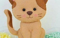 Кот из фетра: как сделать игрушку своими руками по готовому шаблону