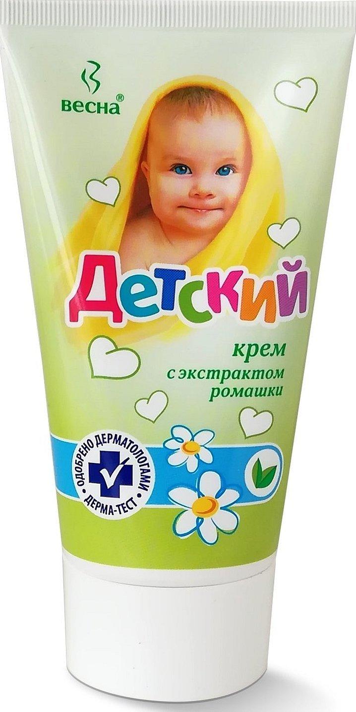 Детский крем весна с экстрактом ромашки