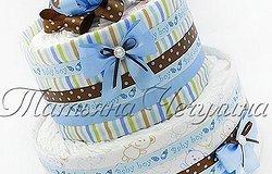 Как сделать торт из памперсов своими руками?