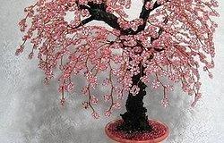 Мастер-класс, как делается цветущая сакура из бисера