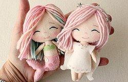 Куклы из фетра и одежда для них своими руками: мастер класс, шаблоны куколок