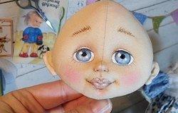 Лицо куклы: роспись по ткани, мастер класс для начинающих по созданию лица