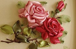 Как вышивать атласными лентами цветы?