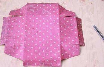 Платок розовый в горошек