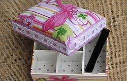 Мастер-класс, как обклеить коробку тканью