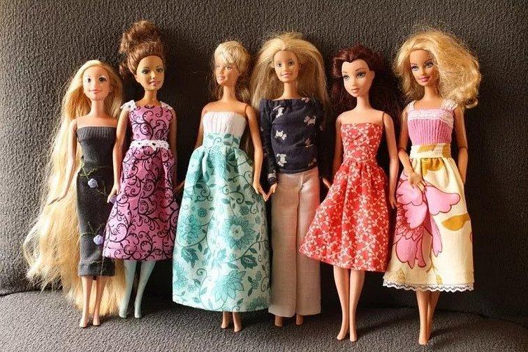 Платья для кукол барби своими руками