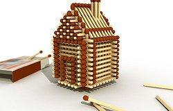 Как сделать маленький домик из спичек?