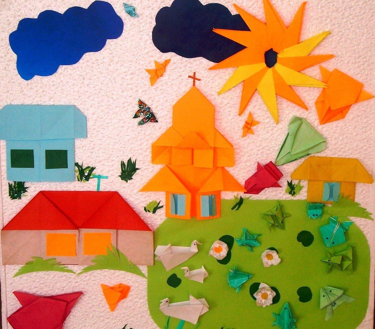 Картина из оригами для детей