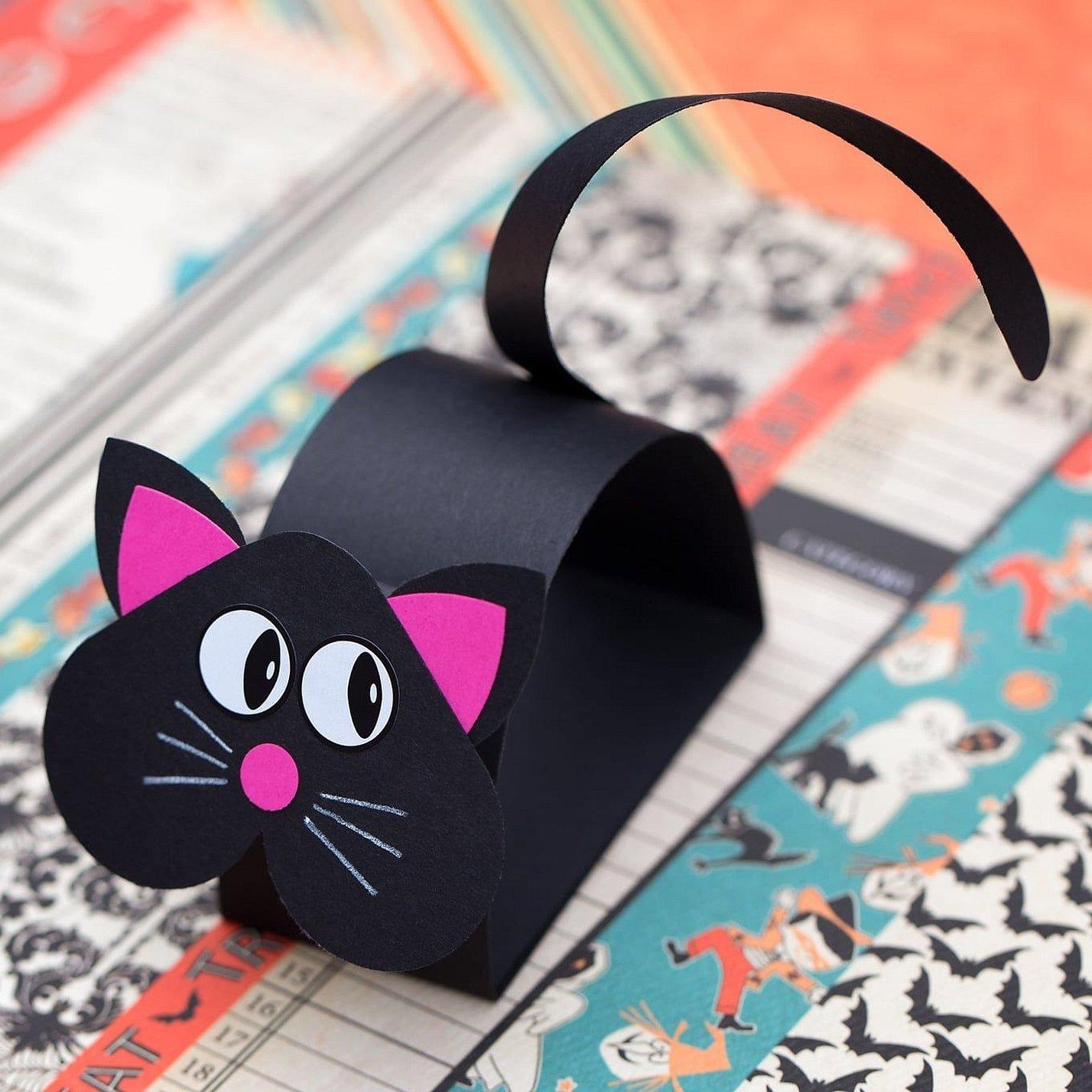 Поделки из бумаги кошка из полосо