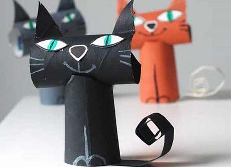 Сделать кота из бумаги