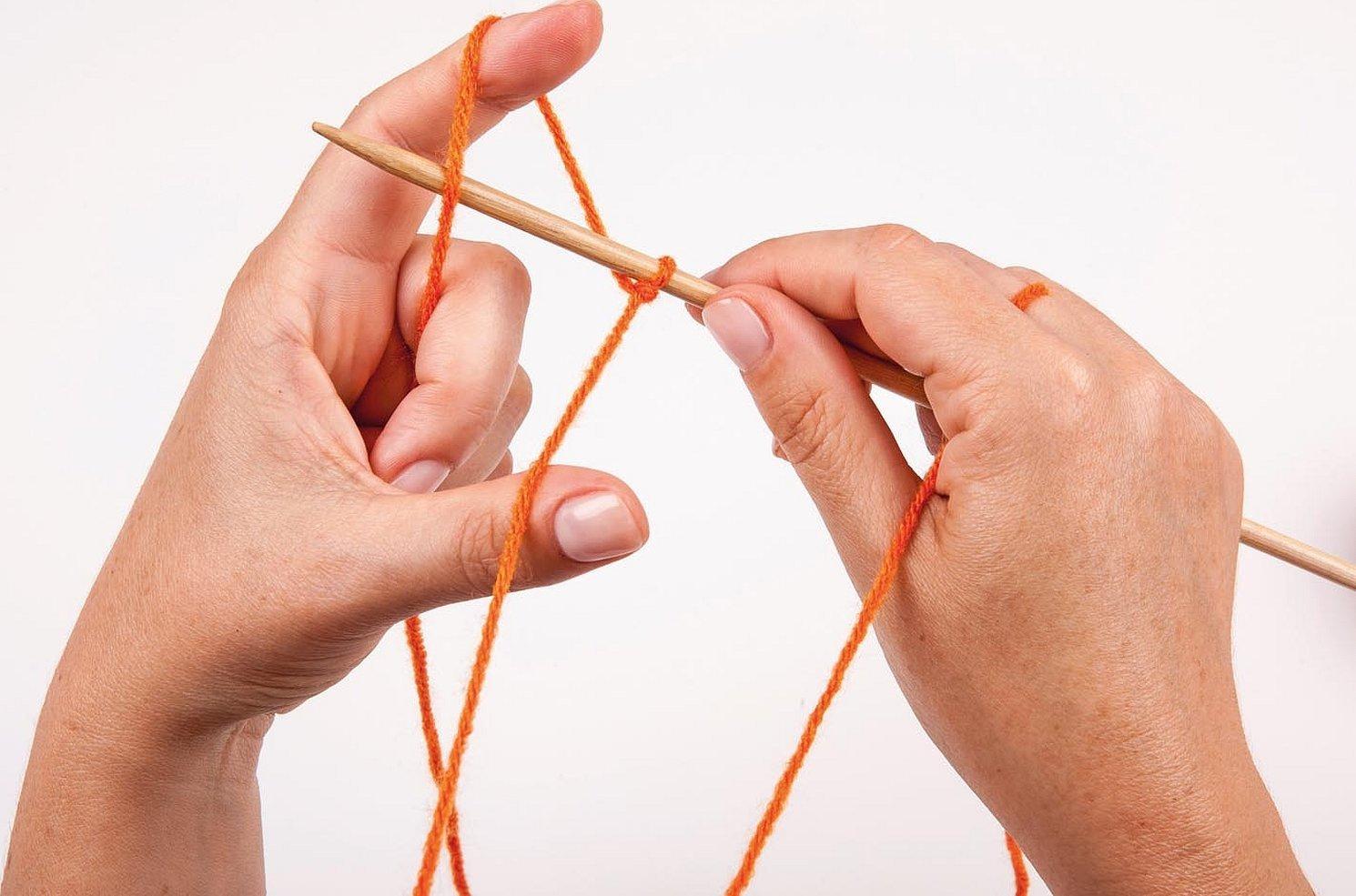 Способы набора петель спицами