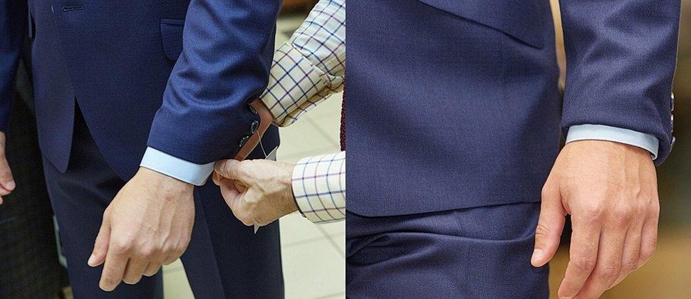 Манжета рубашки из под пиджака