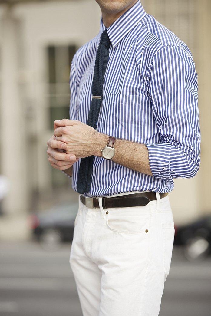 Зажим для галстука на рубашке