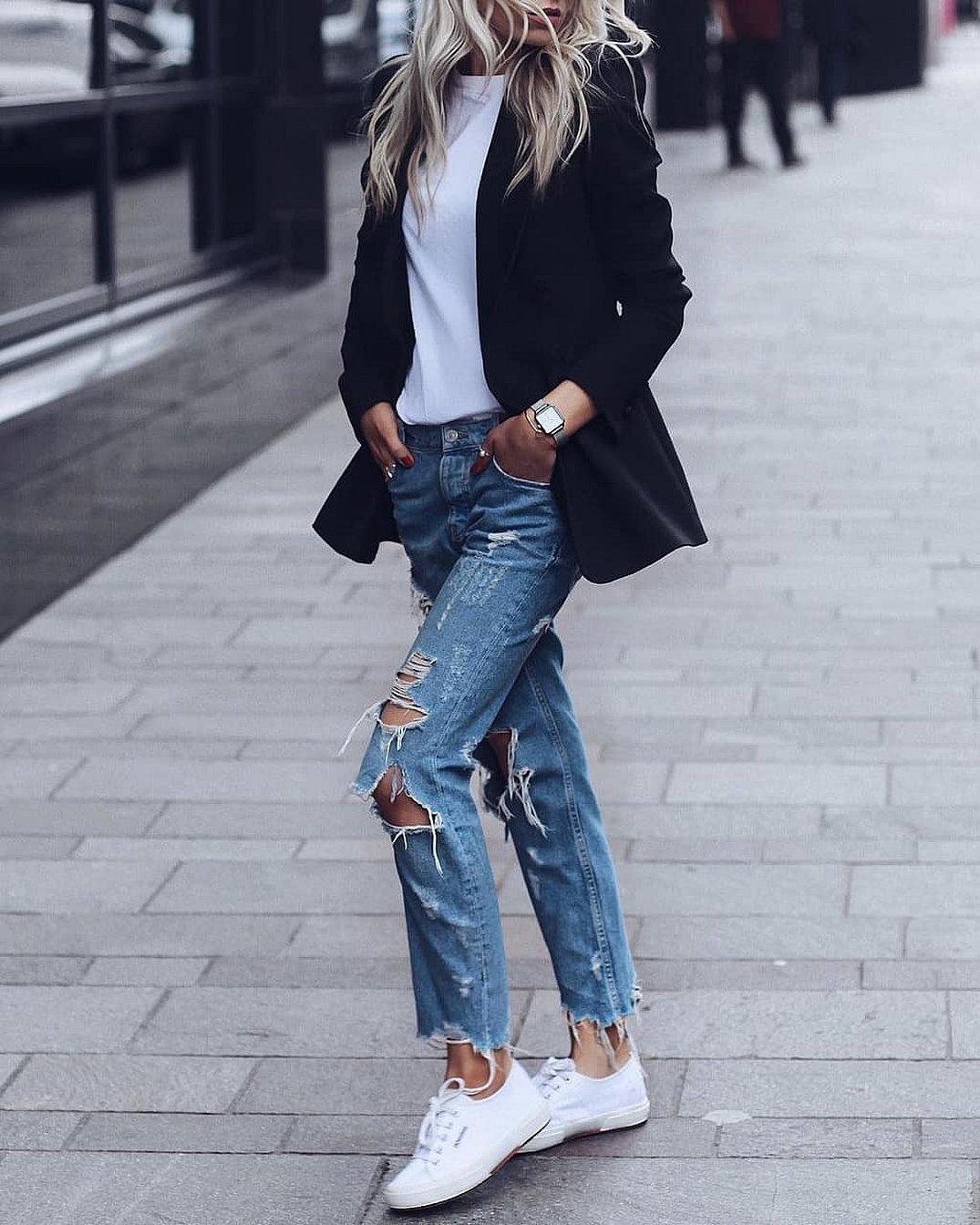 Обувь с джинсами бойфренд