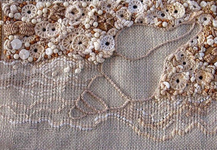 Арт-текстиль шитье кружево