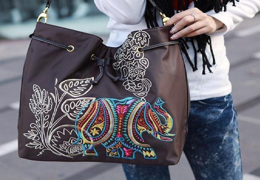 Этнические узоры на сумкк
