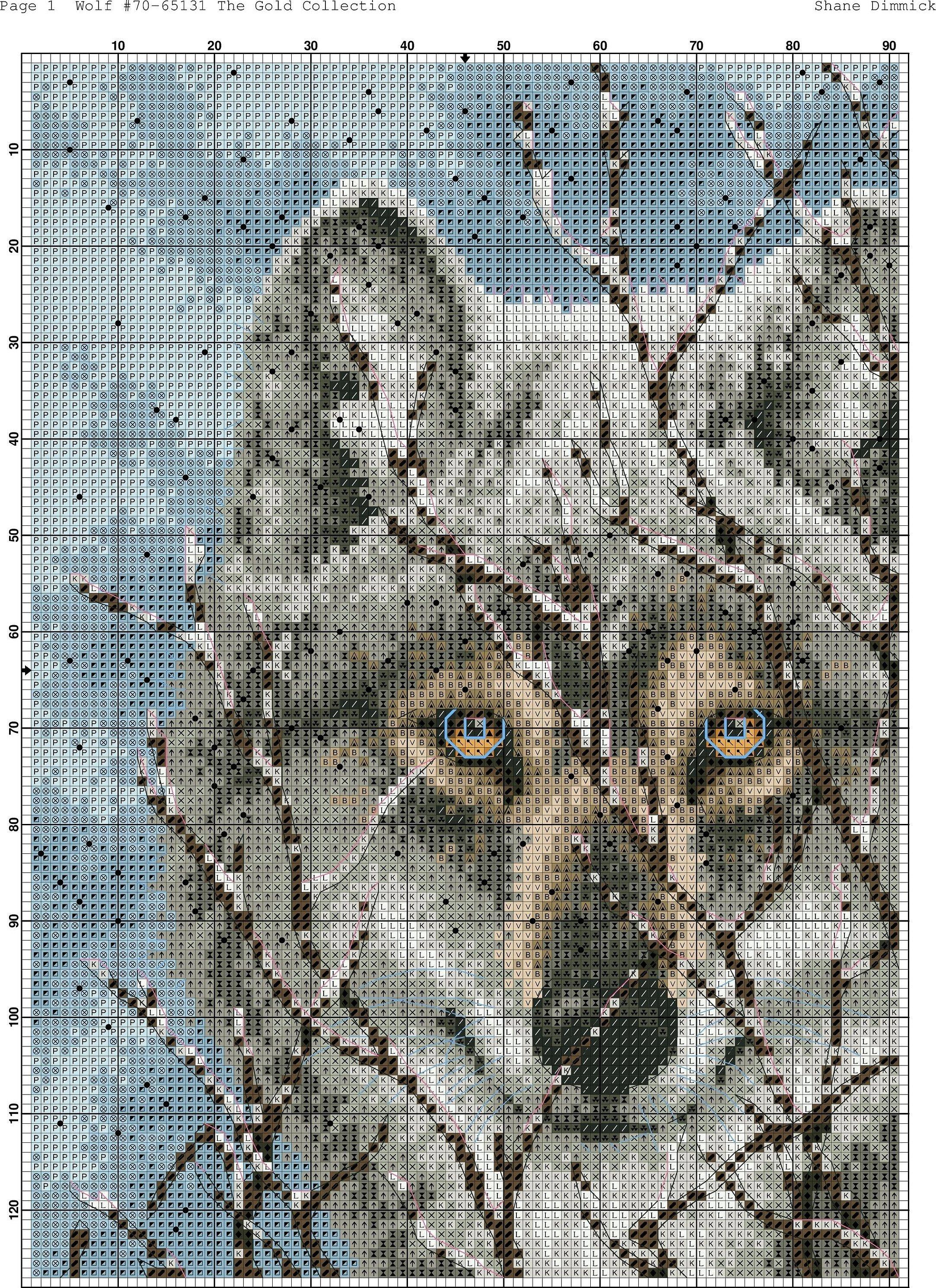 Картина волки зимой вышивка