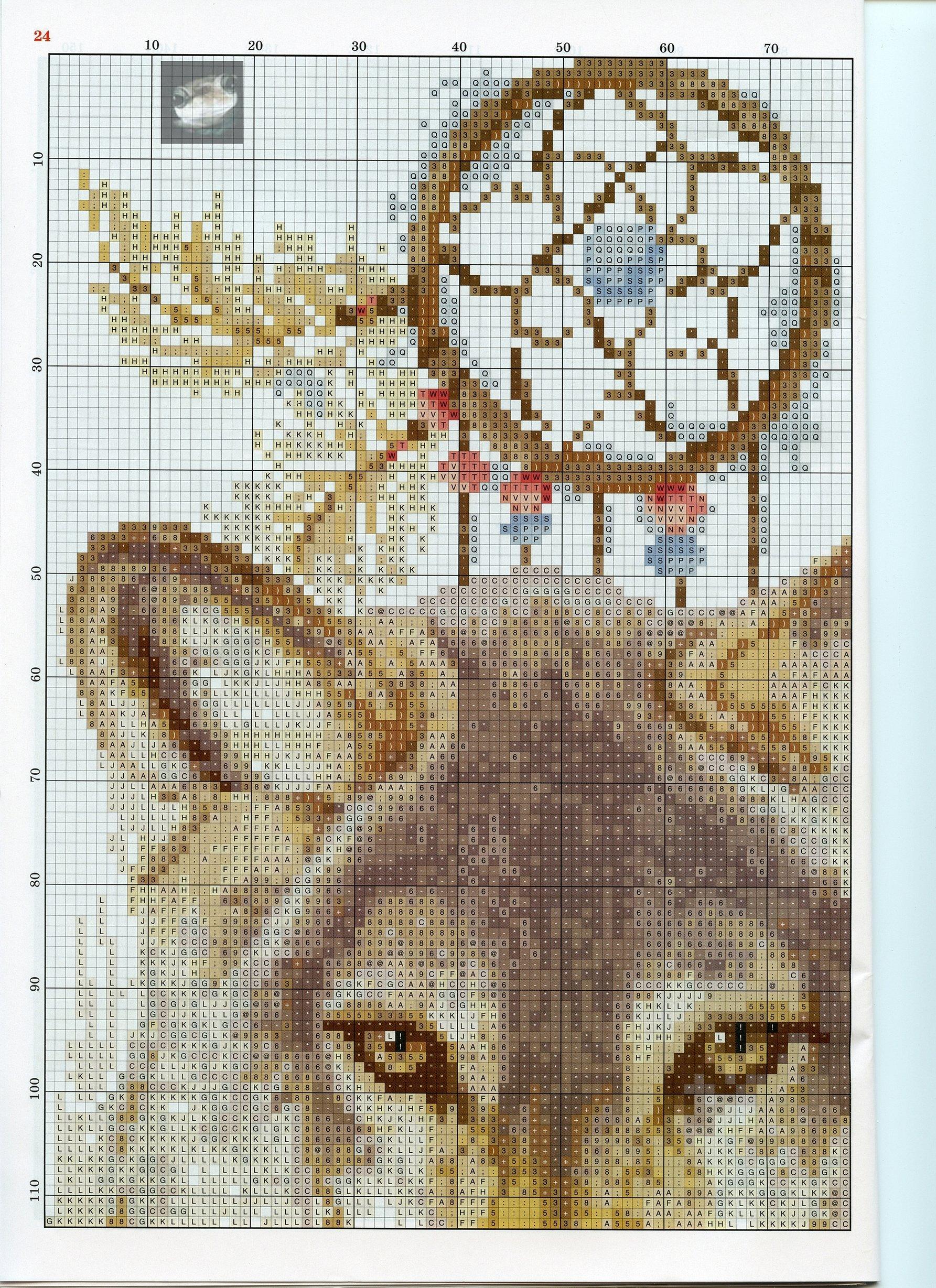 Вышивка крестиком ловец снов волк схемы