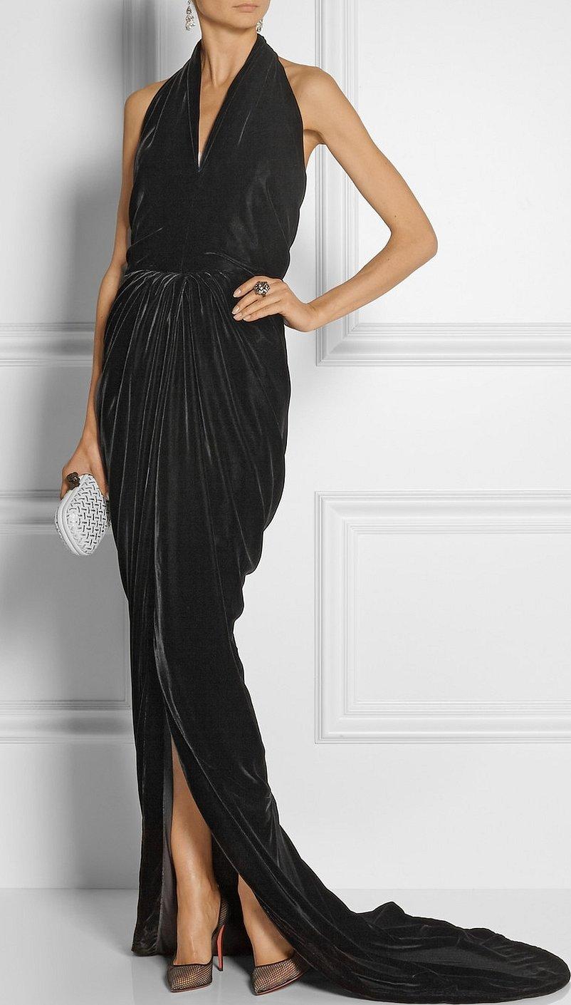Платье-комбинезон черное вечернее