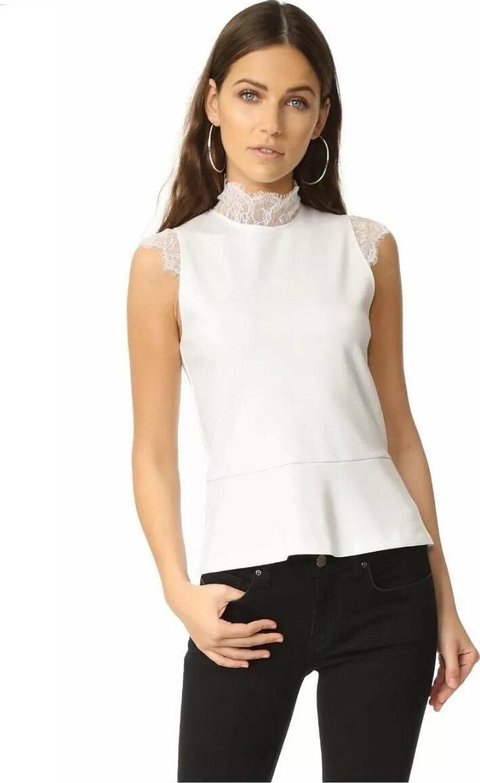 Белая рубашка без рукавов женская
