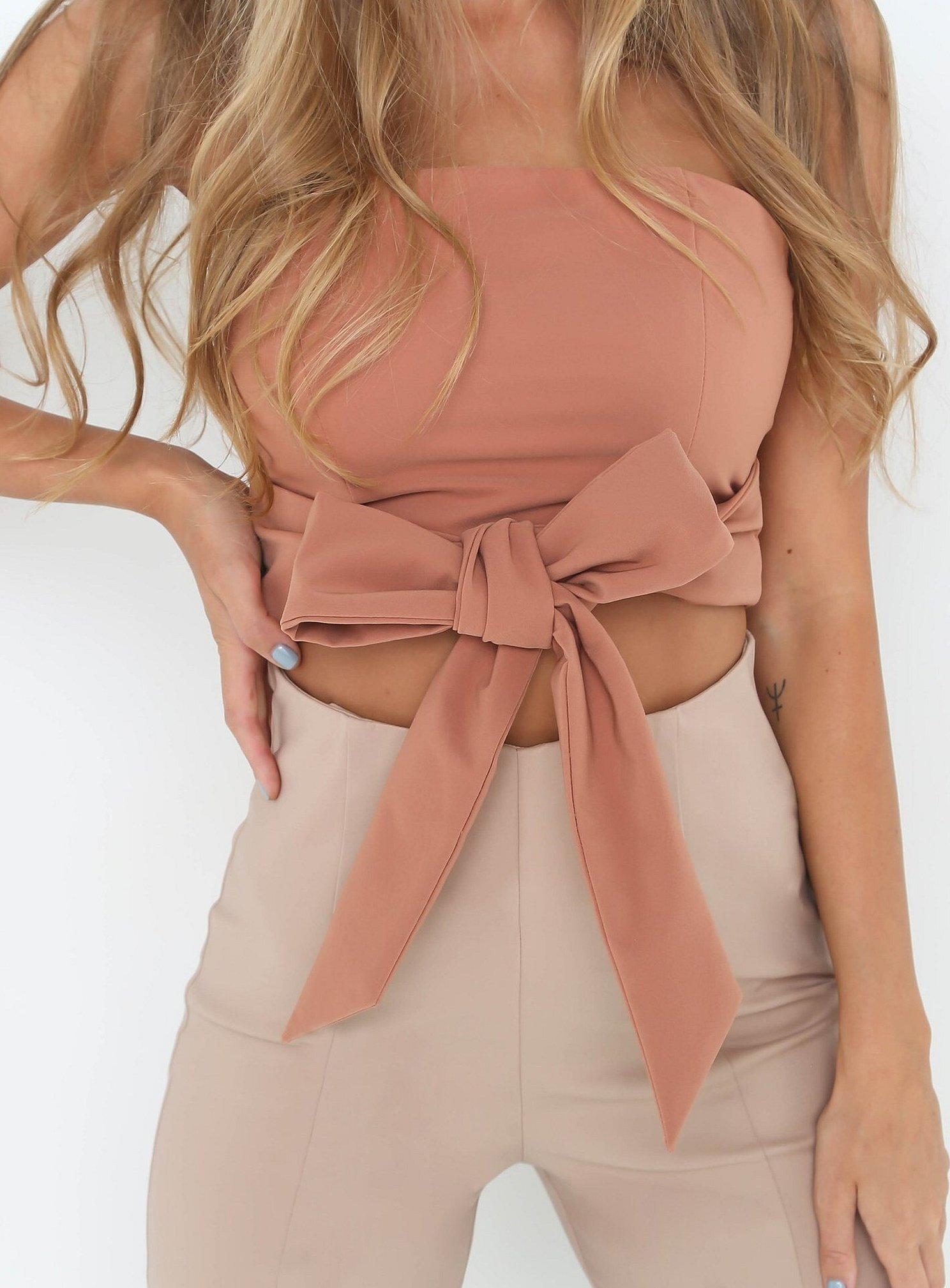 Рубашка-топ женская с завязками