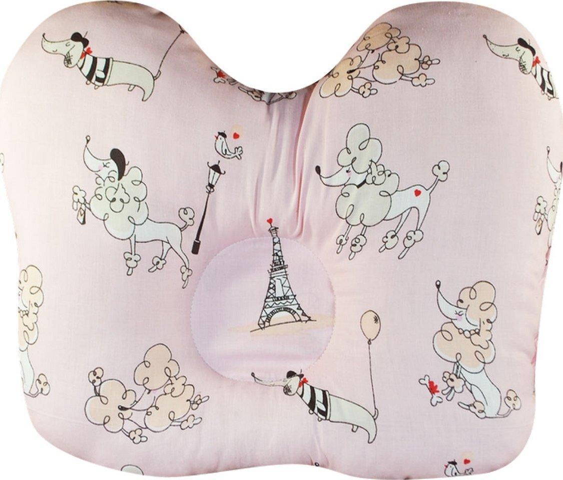 Детская ортопедическая подушка для новорожденных бабочка