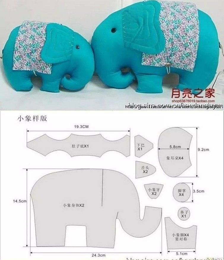 Подушка игрушка слоник выкройка