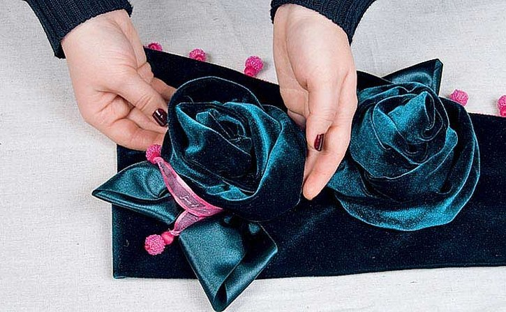 Розы из бархата мастер класс