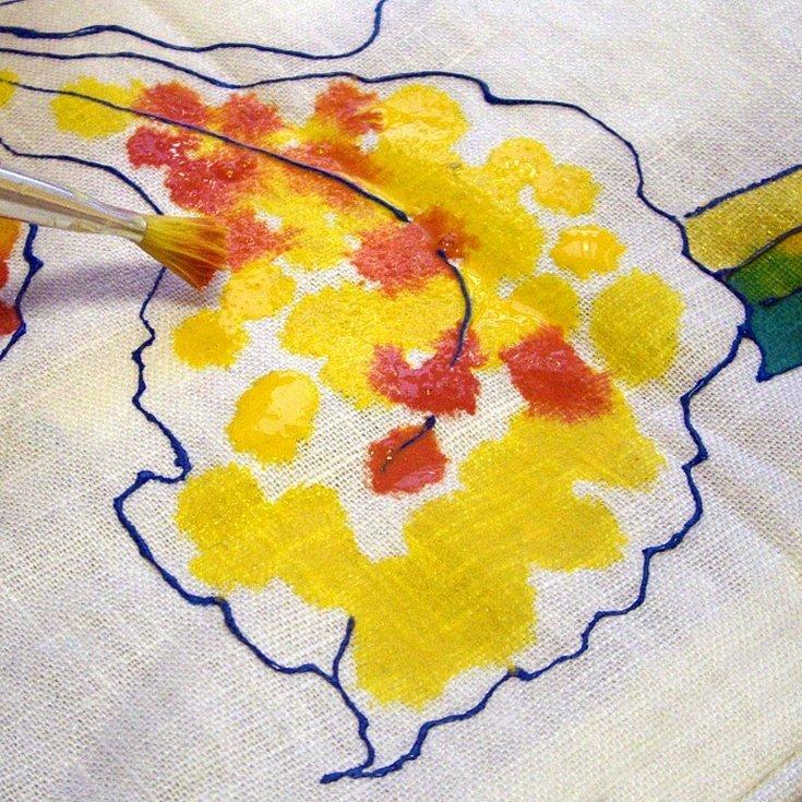 Батик роспись по ткани для начинающих