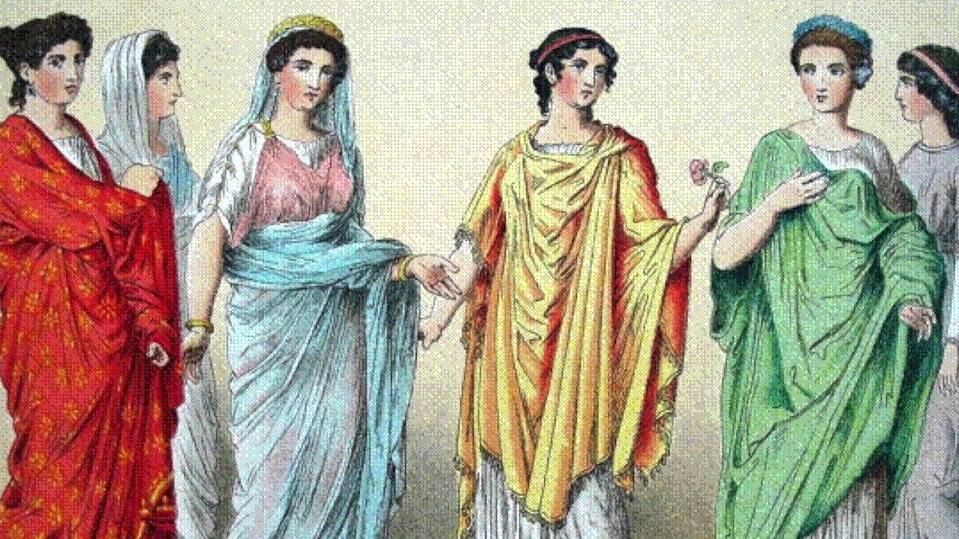 Женская одежда древних римлян