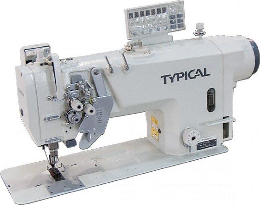 Колонковая двухигольная швейная машина джуки