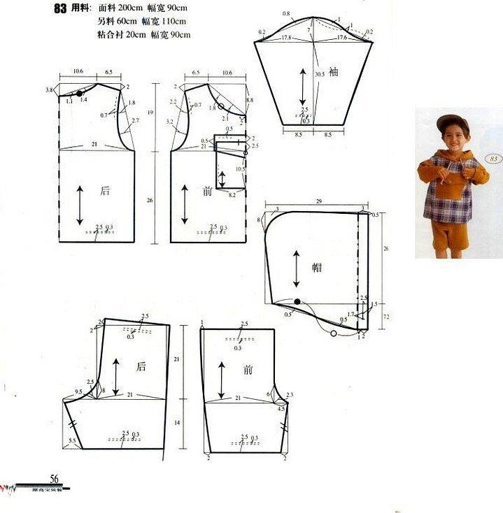 Выкройка детской курточки для мальчика