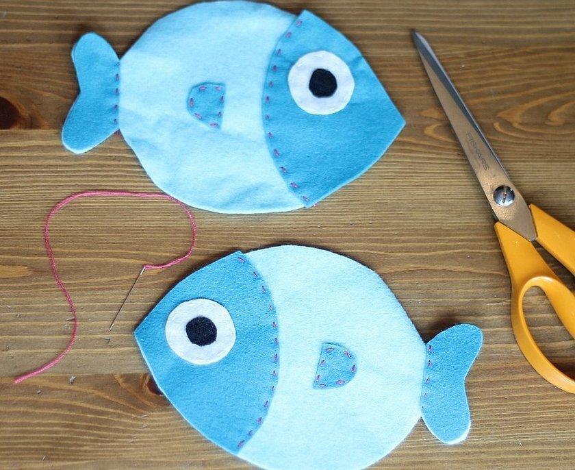 Рыбки из фетра для игры рыбалка выкройки
