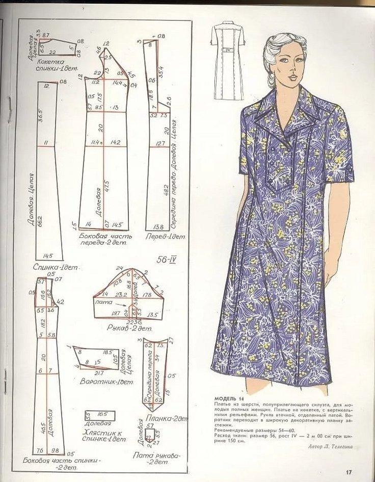 Выкройки платьев для полных из старых журналов