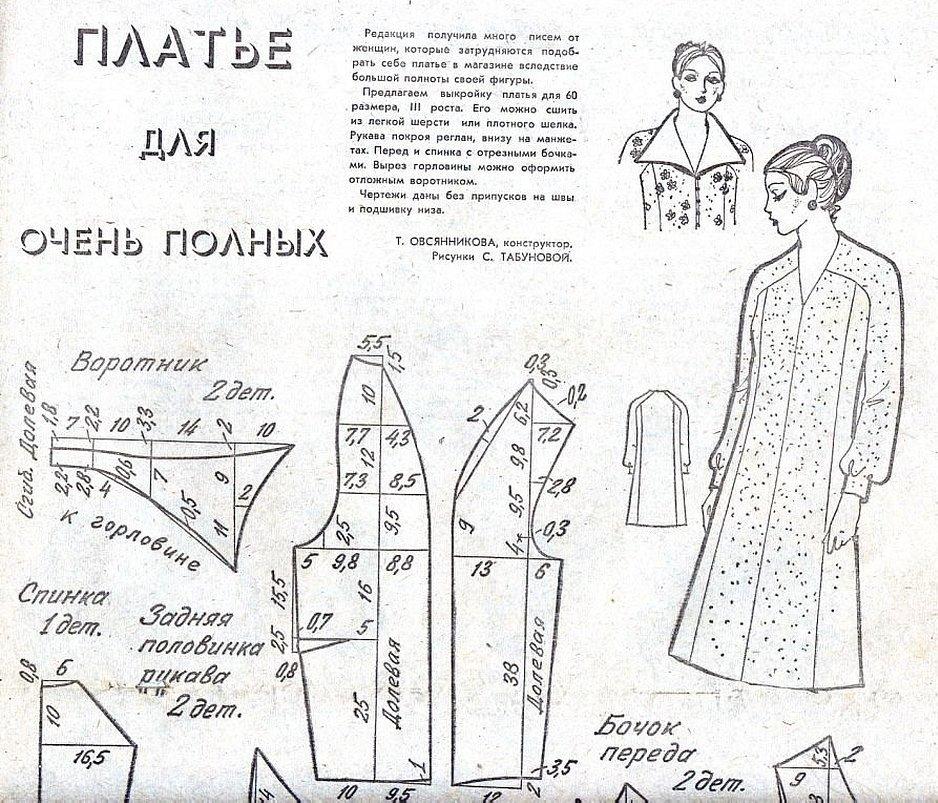 Выкройки старинных халатов