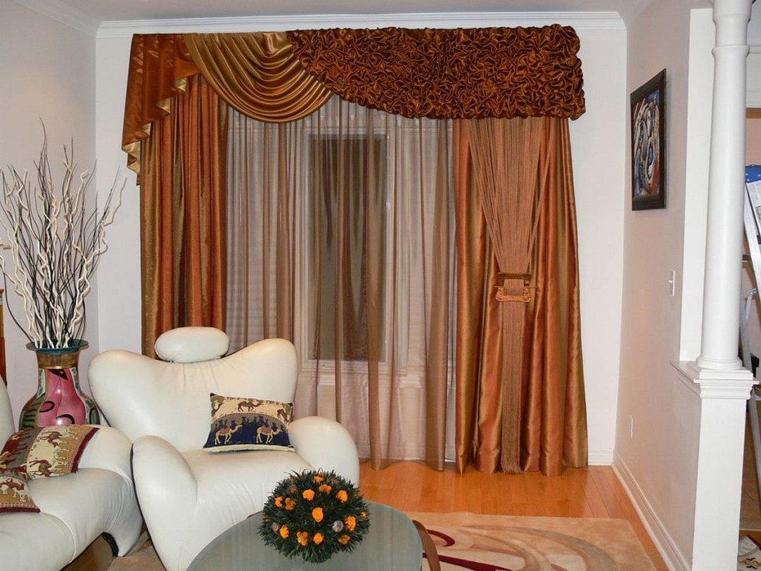Дизайн штор в гостиной