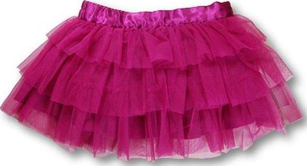 Детская юбка из фатина с воланами