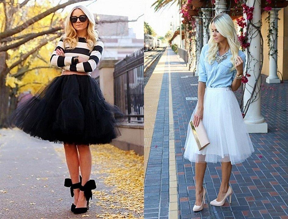 Модные образы с юбкой пачкой