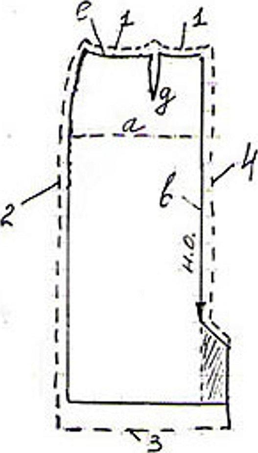 Прямая юбка детали кроя срезы