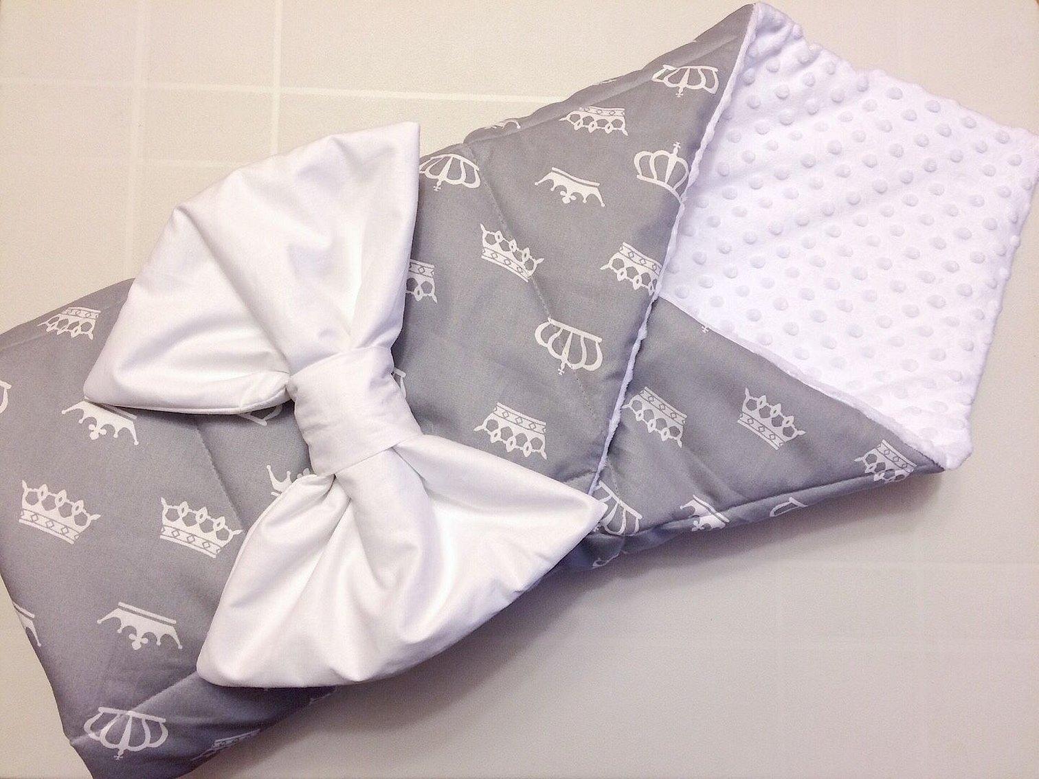 Конверт одеяло на выписку для новорожденных