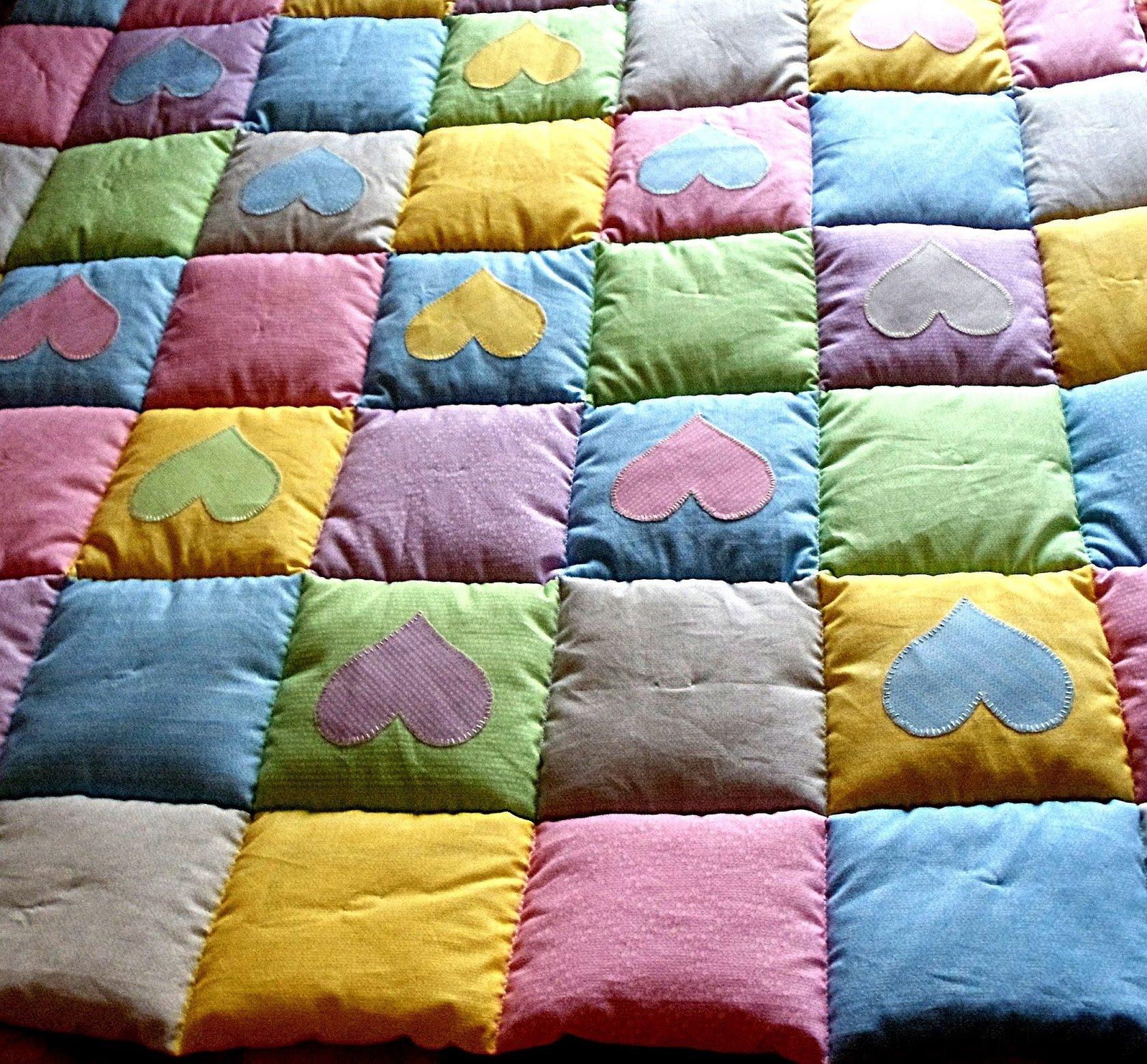 Лоскутная техника одеяло детское