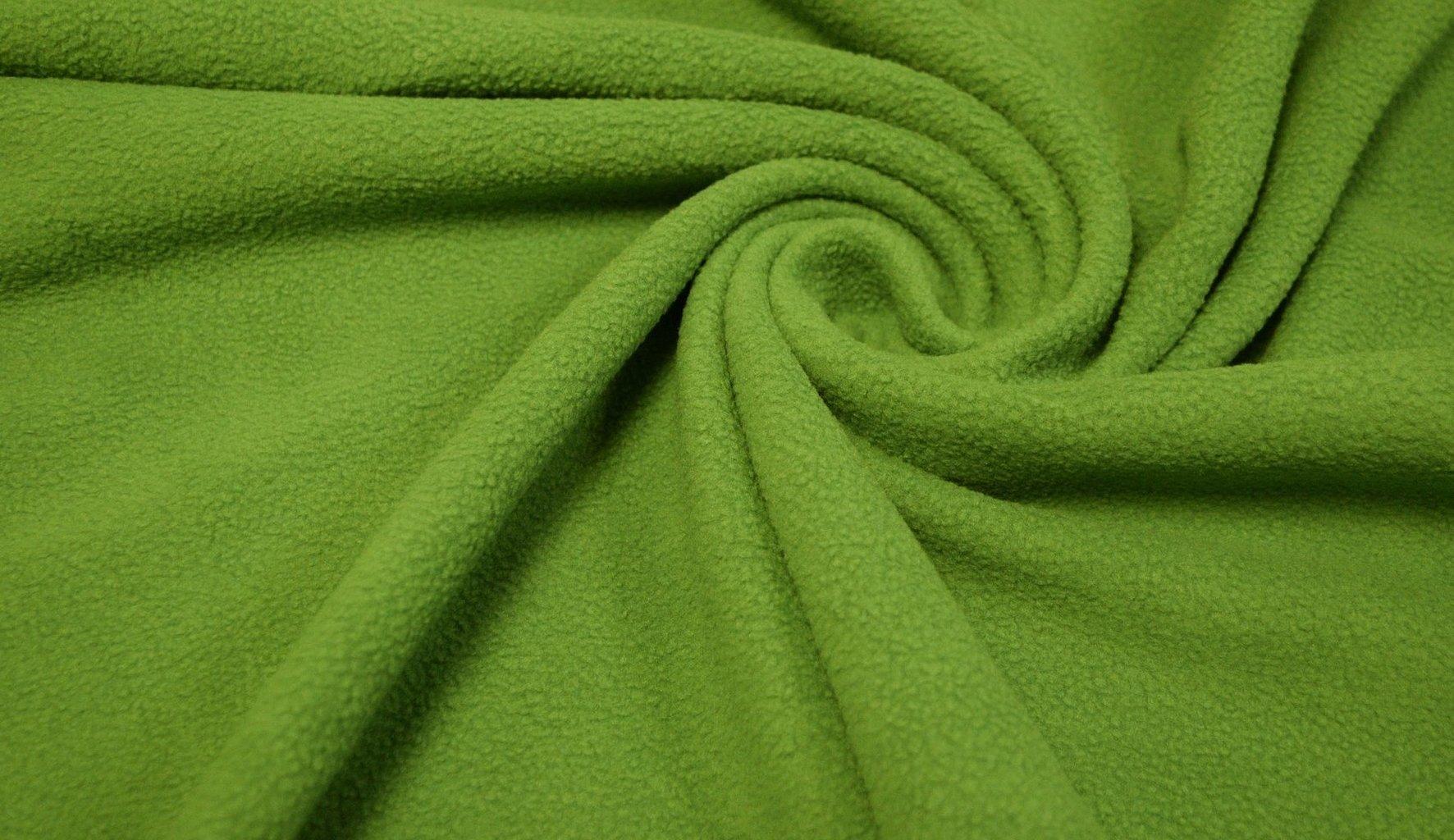 Ткань флисовая темно зеленая