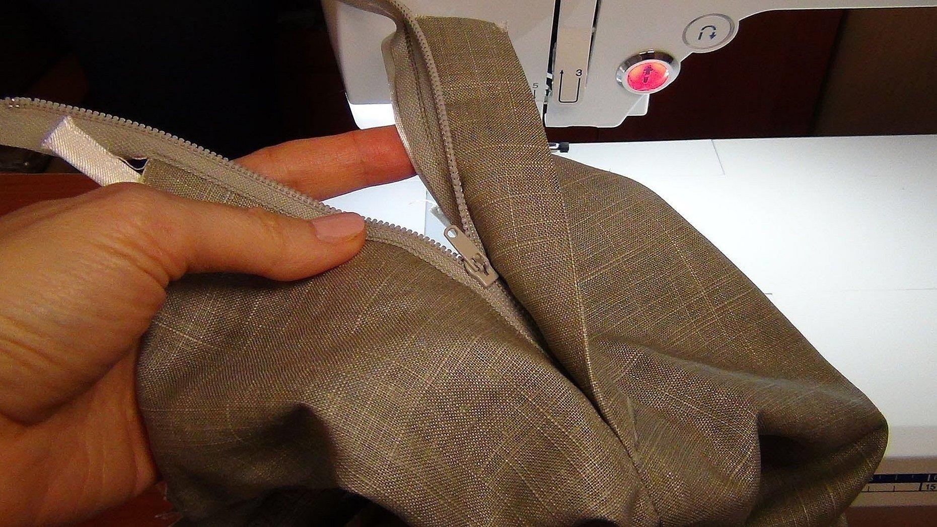 Гульфик на женских брюках