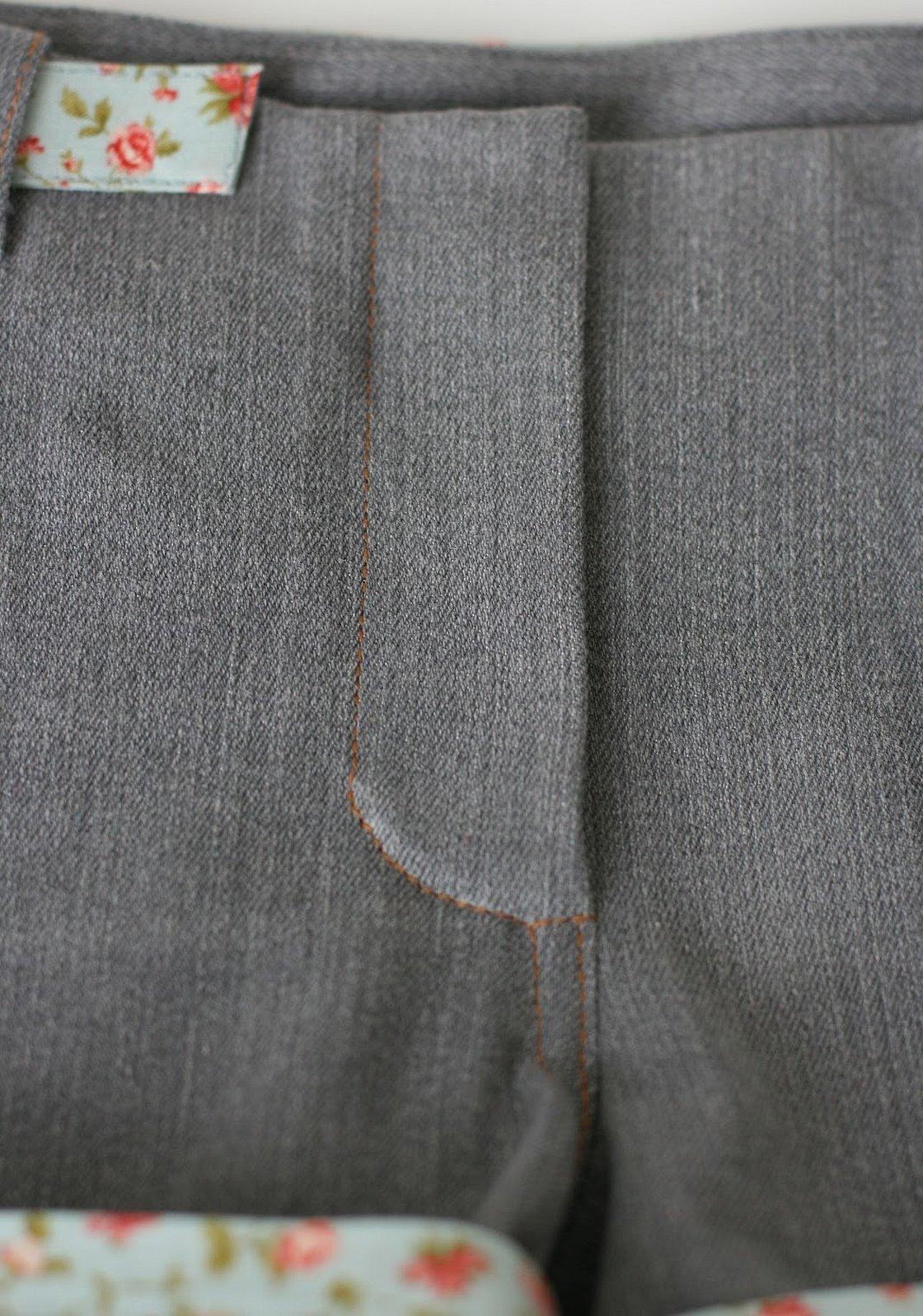 Обработка гульфика в джинсах