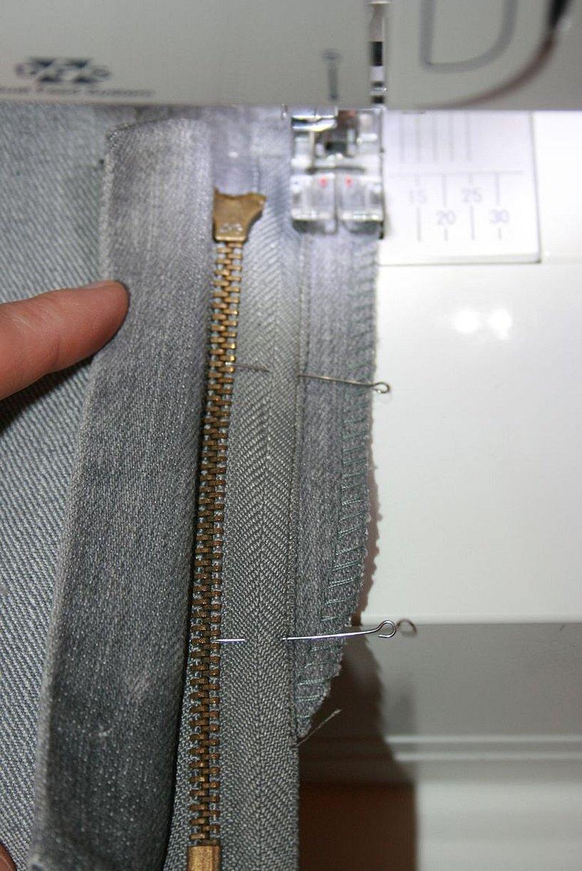 Вшить молнию в брюки