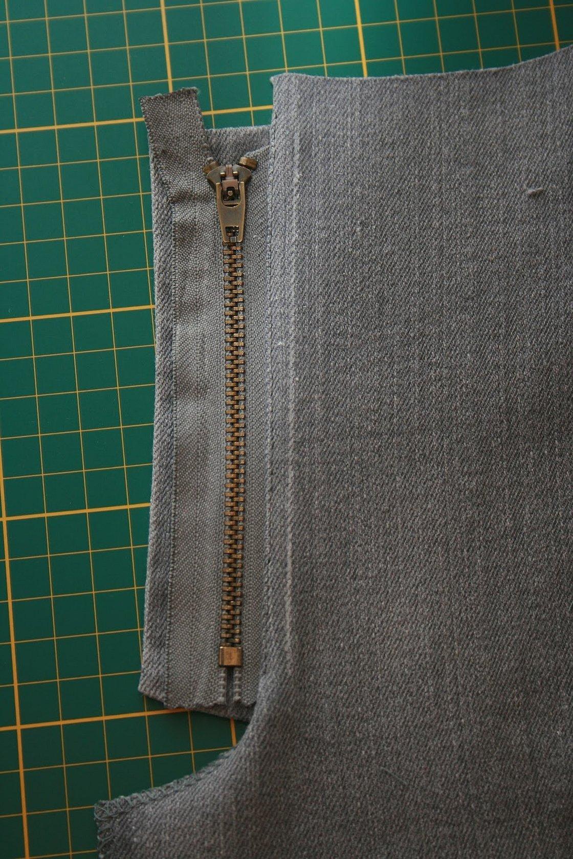 Вшить молнию в брюки женские