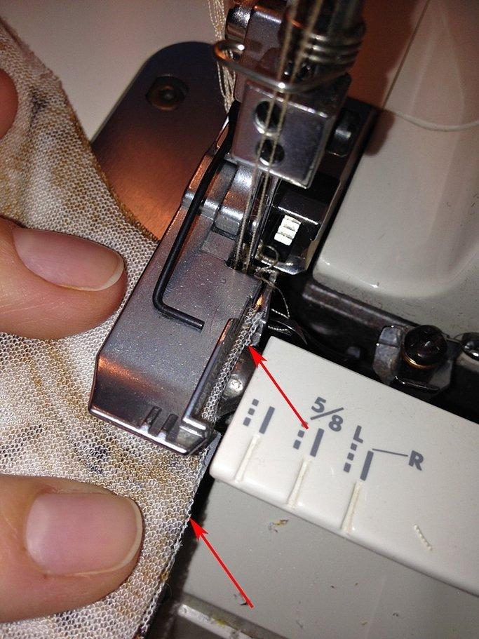 Обработка сетки на оверлоке