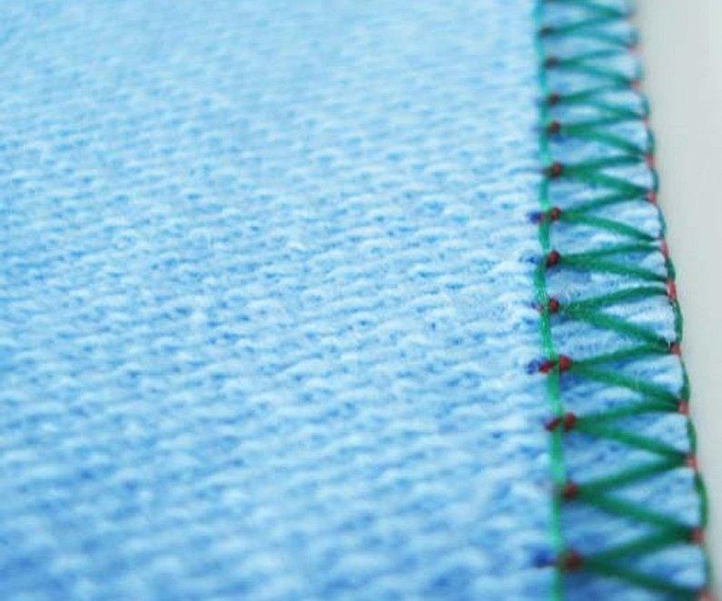 Оверлок на ткани