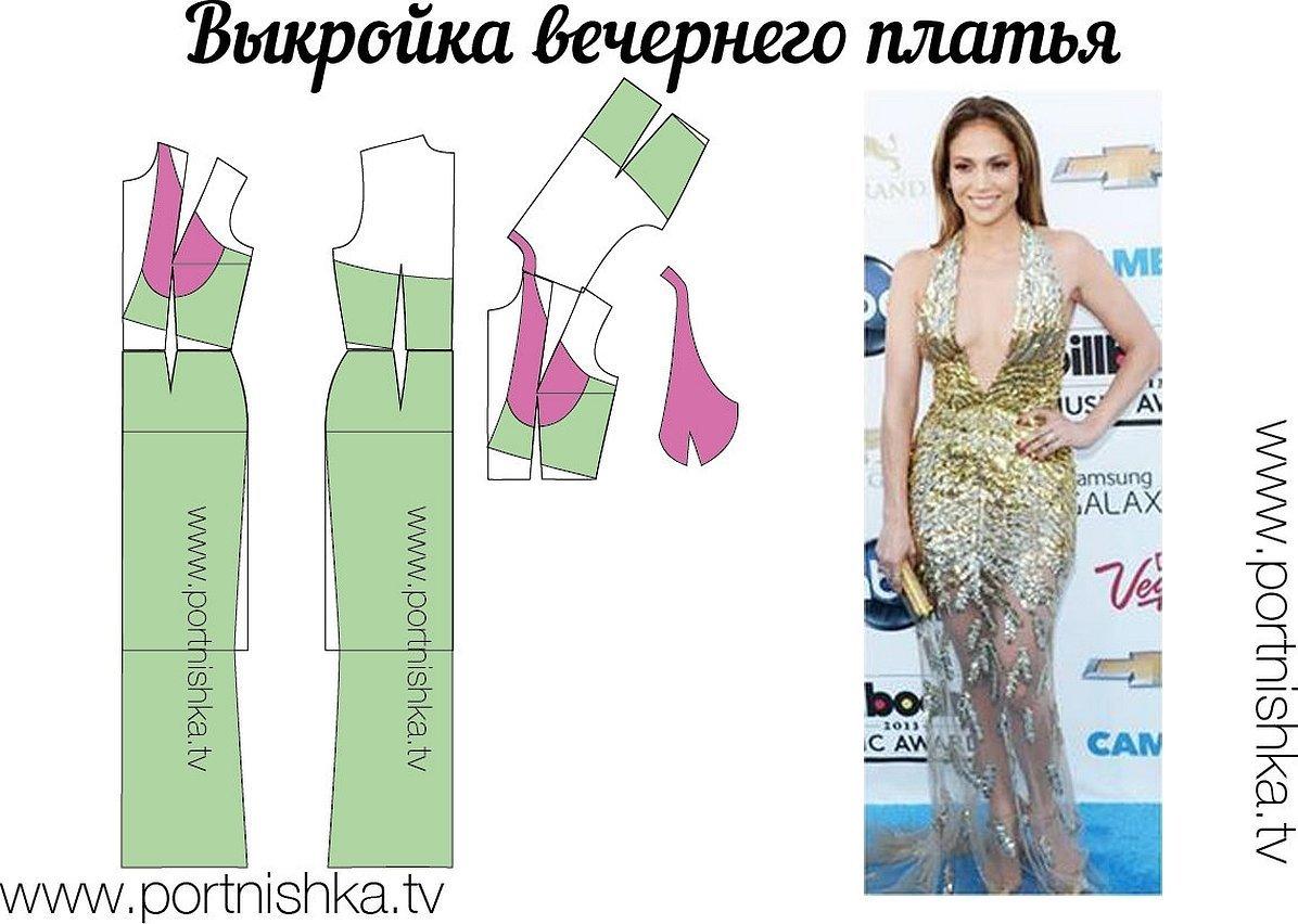 Моделирование вечернего платья выкройки